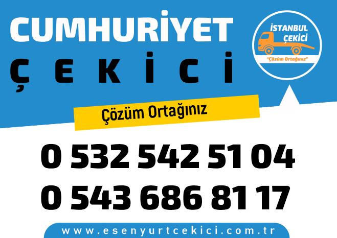 Cumhuriyet çekici profesyonel ve güvenilir Cumhuriyet yol yardım, Cumhuriyet oto kurtarıcı ve Cumhuriyet en yakın çekici 7/24 hizmeti .